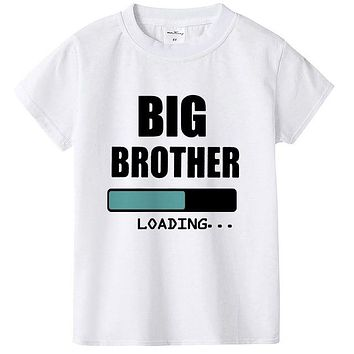 1pc Big Brother/Sister Loading T Shirt