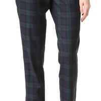 Plaid Pull On Trousers