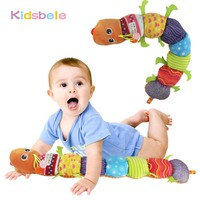 Baby Toys Musical Stuff Caterpillar With Ring Bell Cute Cartoon Animal Plush Doll Early Learning Educational Kids Toys