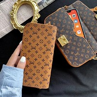 LV Louis Vuitton Simple Canvas Women's Coin Purse Card Holder