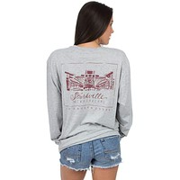 Mississippi State Long Sleeve Stadium Tee in Heather Grey by Lauren James