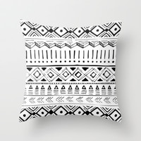 Funky Love Throw Pillow by Pink Berry Pattern
