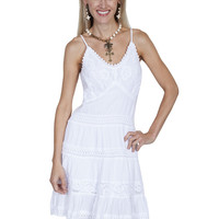 Scully 100% Peruvian Cotton Maxi Dress With Double Cap Sleeves