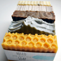 Your Choice of FIVE Bars of Soap! 5 oz all-natural handcrafted vegan vegetarian skincare