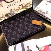 GUCCI autumn and winter new cashmere women's knitted jacquard double G logo shawl scarf