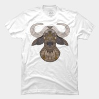 African Buffalo T Shirt By Myartlovepassion Design By Humans