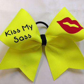 Kiss my Sass Cheer Bow