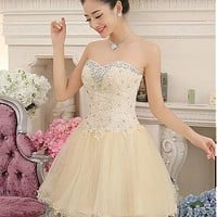 Buy discount In Stock Tulle & Lace Fabulous Sweetheart Neckline Ball Gown Homecoming Dress at Dressilyme.com