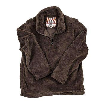 CHILD'S Silky Pile Pullover 1/4 Zip in Brown by True Grit