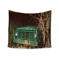 "Angie Turner ""Ford"" Teal Car Wall Tapestry"