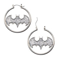 BATMAN LOGO SILVER COLOR CUT GLITTER HOO