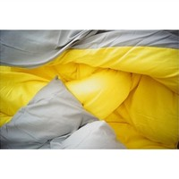 Gray/Yellow Reversible College Comforter College Products Bedding For College Students Dorm Room Essentials