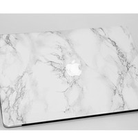 ON SALE - White Marble MacBook decals - Laptop skins - Laptop decals - Made for MacBook Pro, MacBook Air, MacBook Pro Retina - MacBook skins