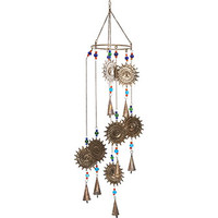 Gold Tone Sun Wind Chime