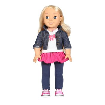 "18"" Smart Realistic Interactive Talking Fashion Baby Doll, Blonde"