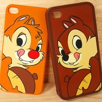 CHIP & DALE twin set pack rescue rangers Walt Disney iPhone 4 case cover classic