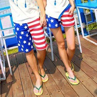 The American flag leisure lovers beach pants,lovely shorts