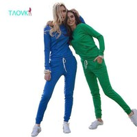 Taovk Women's Sportsuits Casual Sweatshirt Track & Sweat Tracksuit Long Sleeve Hoodies And Pants Set