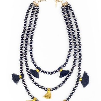 Triple Strand Agate Necklace