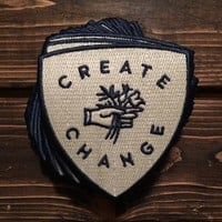 Create Change Iron-On Patch - Take Heart Apparel Co.