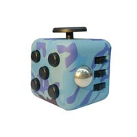 Mini Fidget Cube Vinyl Desk Toy Keychain Anxiety Stress Relief Focus Toys Gift Camouflage Color