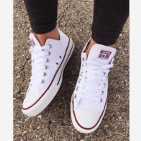Adult Converse All Star Sneakers Low-Top Leisure shoes White