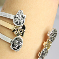 Love and Madness Star Wars Bracelet- Darth and Storm Trooper