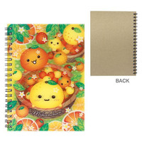 Japanese Kawaii Character 3D Lenticular Notebook (Mikan Chan/Orange)