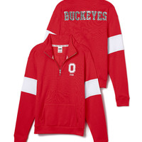 Ohio State University Bling Half-Zip Pullover