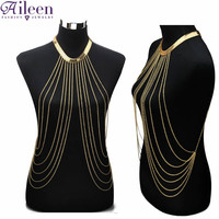 Sexy Gold Body Chain Necklace