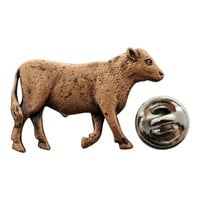 Steer Pin ~ Antiqued Copper ~ Lapel Pin
