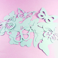 Beautiful Butterfly Die Cut Set -- Various Butterfly Shapes -- Paper Crafts for Scrapbooking Arts Crafts -- Custom Sizes & Colors Available