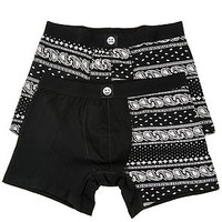 The Paisley Boxer Briefs in Black