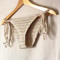 Crochet Bikini Bottoms- 100% Mercerized Cotton