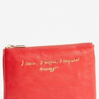 Rebecca Minkoff 'Erin - I Came, I Shopped, I Conquered' Leather Pouch   Nordstrom