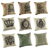 """New Fashion Cotton 18"""" Cushion Cover Pillow Case Home Decoration Decor 9 styles"""