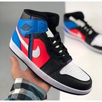 Air Jordan 1 fashion color matching mid-top casual sneakers