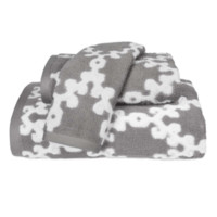 Totem Gray Towel Collection by John Robshaw