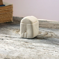 Miniature clay house, white minimal house, little clay house, home decoration, house no1
