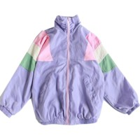 Patchwork Pastel Windbreaker Jacket