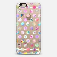 Girly modern bright watercolor polka dots pattern iPhone 6 case by Pink Water | Casetify