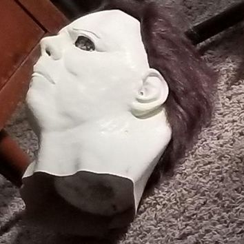 2018  Decoration Box Gift Realistic Party Dress Michael Myers Latex Halloween Mask