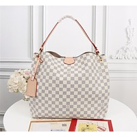 New LV Louis Vuitton M43703 Women's Leather Shoulder Bag LV Tote LV Handbag LV Shopping Bag LV Messenger Bags 39-34-12cm