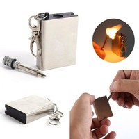 Metal match Fire starter outdoor survive camp hike