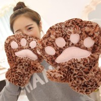 Baby Animal Bear Claw Toy Kids Lovely Bear Paw Gloves Children Adults Soft Funny Toy Gift