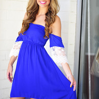 The Whole Package Dress: Royal Blue | Hope's
