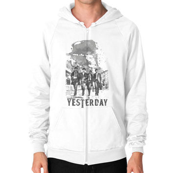 YESTERDAY BEATLE Zip Hoodie (on man)