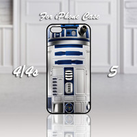 Star Wars R2D2, Design For iPhone 4/4s Case or iPhone 5 Case - Black or White (Option)