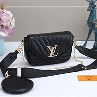 Louis Vuitton LV Women Leather Satchel Crossbody Handbag Shoulder Bag