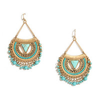 Sol Searching Gold and Turquoise Earrings